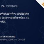 |COMAC ZA OPONOU | #4 Martina Kvitová – Ředitelka pobočky v Ostravě